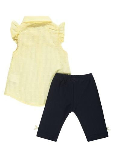 Civil Baby Kız Bebek Taytlı Takım Sarı